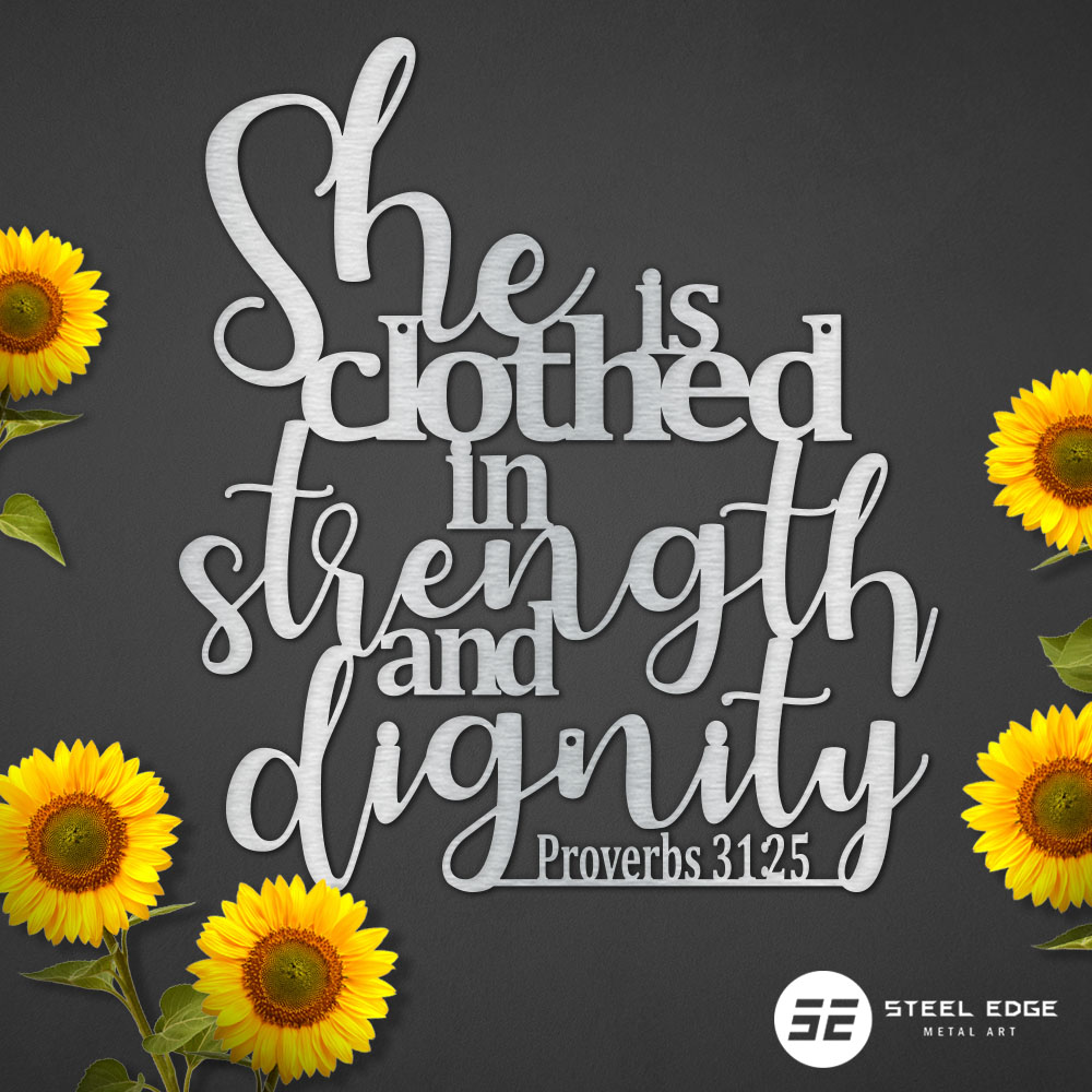 Steel Edge Proverbs 31 25 Prvbs 3125