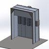 Columbia Coatings Spray Booth 8 x 8 x 3½