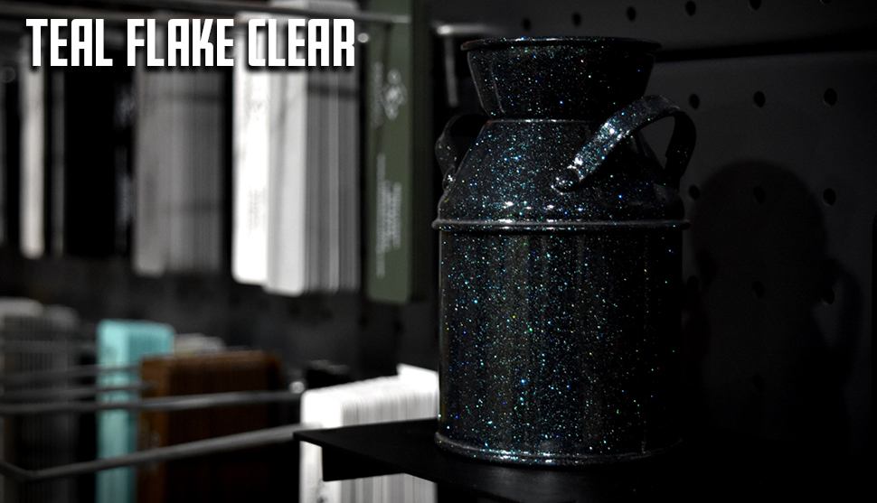 Teal Flake Clear