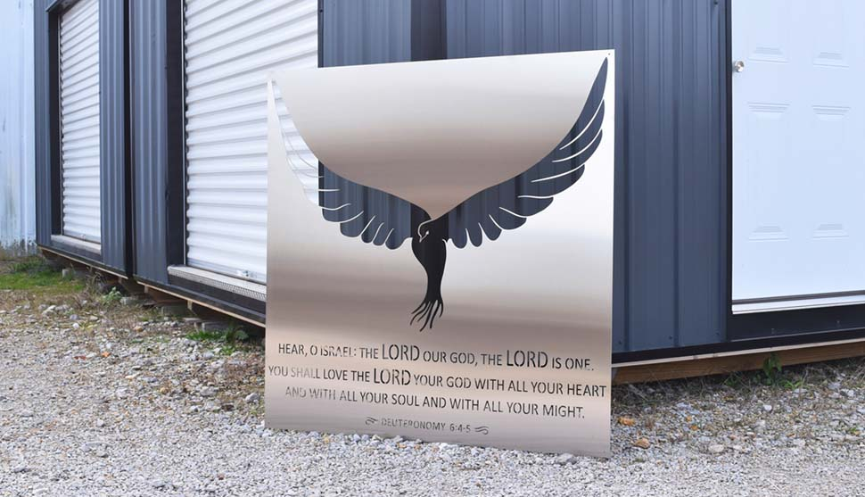 Shop new Deuteronomy 6: 4-5 Metal Art!