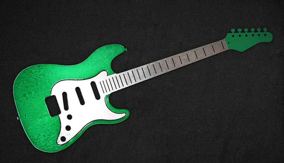 Electric Guitar coated with Shamrock Candy Green