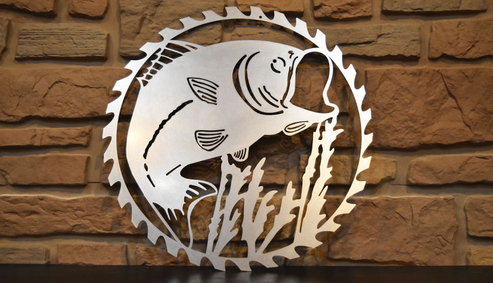 Shop Fish Saw Blade metal art!