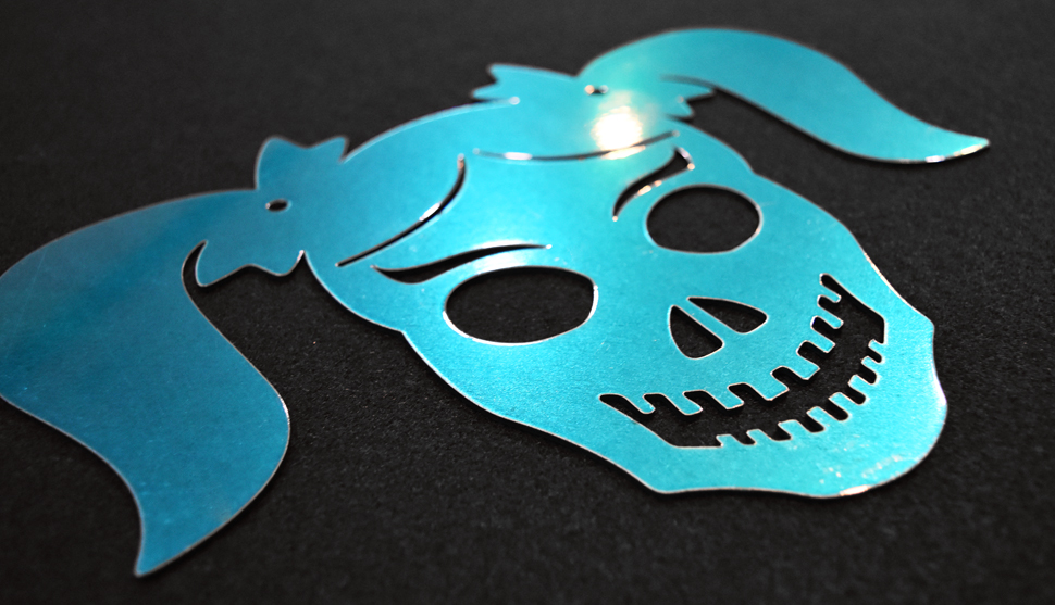 Girl Skull coated with Candy Teal