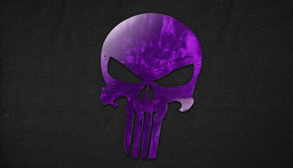 Punisher Skull coated with Candy Grape Pop