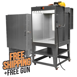 3 Booth & 2 Oven Combo Kit powder, coating, spray, booth, oven, combo, 232, 342, rolling, small