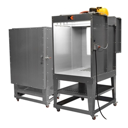 3 Booth & 2 Oven Pair 2, 3, Electric, Batch, Oven, 232, rolling, small, kool, koat, compact