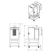 3'w x 4'h x 2'l Powder Spray Booth - KKSB342