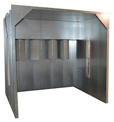 Columbia Coatings Spray Booth 4w x 7h x 4l  columbia coatings, powder coating, spray booth, powder booth, powder coating booth, columbia coatings booth