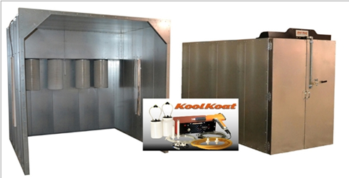 Columbia Coatings Turn-Key Powder System: 4x6x10 Oven, 8x8x8 Booth, Hyper Smooth 02 LED Columbia Coatings Turn-Key Powder Coating System 4x6x10