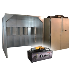 Columbia Coatings Turn-Key Powder System: 4x6x6 Oven, 8x8x8 Booth, Hyper Smooth 02 LED Columbia Coatings Turn-Key Powder Coating System 4x6x6