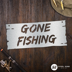Gone Fishing fish, fishing, gone, sign