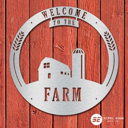 Welcome to the Farm Welcome to the Farm, welcome, farm, metal, art