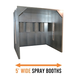 Columbia Coatings Spray Booth 5w x 8h x 4l columbia coatings, powder coating, spray booth, powder booth, powder coating booth, columbia coatings booth